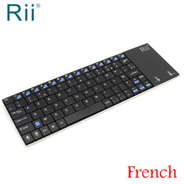 """Wholesale laptops french keyboard - Original Rii i12 2.4G Wireless Mini French Keyboard with Multi-Function TouchPad for PC Laptop Android TV Box """"AZERTY"""" Keyboard"""