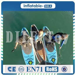 Wholesale Inflatable Kayaks - Inflatable surf board 300x75x15 inflatable sup board stand up paddle board surf kayak sport inflatable boat leash