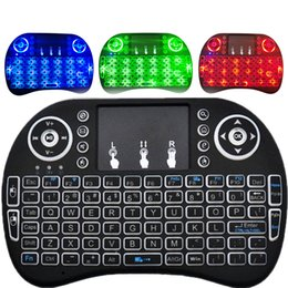 2019 telefones do teclado qwerty 2.4GHz Wireless QWERTY Mini Teclado Com Touchpad Mouse - INGLÊS BLACK Suporte Smart Phone Tablet PC PC TV Box Laptop INGLÊS telefones do teclado qwerty barato