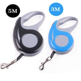 Wholesale Dog Retractable Leash 5m - 3M 5M Length Double Color Pet Dog Retractable Leash Lead for Medium Small Pet Dog Protection of Hand Solid Durable Factory Price