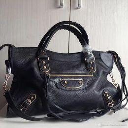 Wholesale Handbag City - Famous brand Wholesale designer bag 2017 Classic Mini City motorcycle 100% SHEEPSKIN genuine leather handbags large travel bag fashion bags