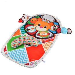 Wholesale Baby Toy Mirrors - 90cm Baby Mat Crawling Mat Play Pad Padded Bolster Large Mirror Teether Animals Lion Panda Elephant For Educational Toys