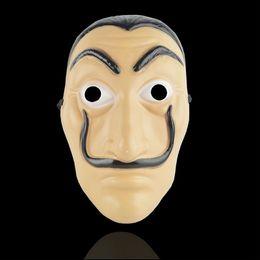 Halloween Horror Prop La Casa De Papel Card House Mask Salvador Dali Bella Bridge Máscara de baile desde fabricantes