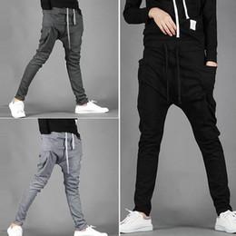 Wholesale Trouser Pants Boys - 2018 Sporting Harem Pants Men Trousers Autumn Vouge Men's Fashion Pants Male Hip Hop Casual Boy Trousers Sweatpants Plus Size