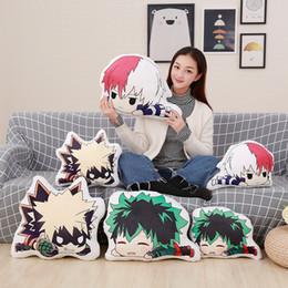 Almohadas de anime online-Cool 35-45cm Nuevo Estilo Exposición Anime Juguetes Lindos Mi Héroe Academia Muñeca de Peluche Suave Almohada Regalo de Cumpleaños Colección de Juguetes de Peluche