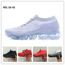 Wholesale Patchwork Cushions - Drop Shipping Vapormax 2018 Running Shoes Men Casual Sneakers Women Sports Black White Outdoor Shock Air Cushion Run Athletic Shoes 36-45