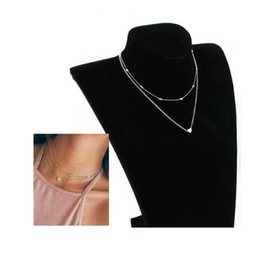 Wholesale Exo Shorts - Simple Silver Plated Love Short Necklace For Women Choker Clavicle Bijoux Collars Jewelry Exo Collar 2018 Gift One Direction