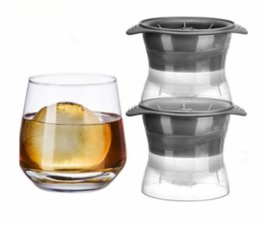 Wholesale silicone ball mould - 2pcs  Lot Eco -Friendly Silicone Ice Cube Mould Ice Ball Maker For Slow Melting Beverage Chillers Ball