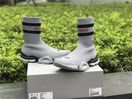 Wholesale Cowboy Boots Sizing - Vetements Teases 2018 black red Sneaker high quality Men Women Speed stretch-knit Speed Trainer running shoes size Eur 36-44
