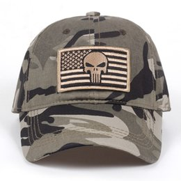 2018 New bone Army Camo Baseball Cap Men Women Tactical Washed Sun Hat  Adjustable Camouflage Casual Snapback Caps hat cf2b0310f380