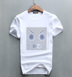 Wholesale Cotton Drill Shirt - Spring and summer fashion Metrosexual t-shirt fear God yeezus hip hop Super adorable Little monster Eye pattern personality Hot drilling sk