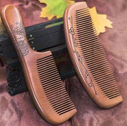 Argentina 2018 Massager Hair Styling Tool madera cepillo de masaje boutique de caoba viejo peine de ébano peine antiestático hair loss hair hair a399 supplier old wood tools Suministro