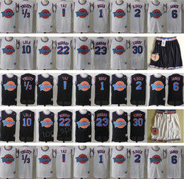 Canada Space Jam Maillot Movie Tune Squad Looney Daffy Duck Bill Murray Lola Bugs Bunny TAZ Tweety Michael LeBron James Basketball Curry Noir Blanc cheap white black duck Offre