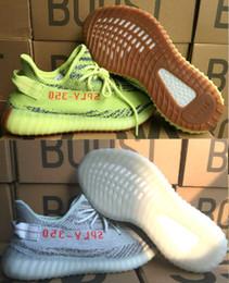 Wholesale green bold - Beluga 2.0 2018 Grey Bold Orange Shoes Blue Tint Yebra Mix 10 Colors 350 V2 Sply 350 Kanye West Running Shoes 36-48