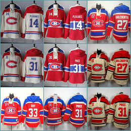 Sudaderas para hombre 14 Tomas Plekanec 27 Alex Galchenyuk 31 Carey Price 33 Patrick Roy Sudadera con capucha de hockey cosida Jersey Hoodies desde fabricantes