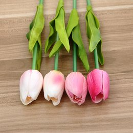 Wholesale Blue Sky Bar - Popular Simulation Tulip Flower Fragrant Multi Color Hand Flowers For Home Bar Wedding Valentines Day Decoration High Quality 1 6zp Y