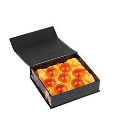 Envío gratis caliente 4 cm estrella Dragonball 7 de 7 bola de cristal de la bola Dragon Ball Z completa nuevo conjunto de 50 caja de conjunto desde fabricantes