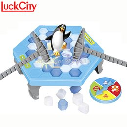 Wholesale mini plastic penguin - Mini Ice Penguin Puzzle Breaking Penguin Great Family Fun Desktop Game Kid Toy Gift Who Make The Fall Off Lose This Game