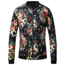 Wholesale Chinese High Collar Jacket - Chinese style personality 3D printing large size fashion baseball jacket New arrival high-quality winter jacket men
