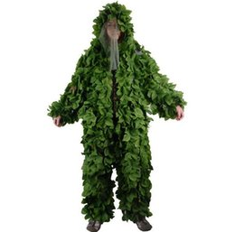 Diseño de bosque Camuflaje Ghillie Suit Grass Leaves tipo caza ropa yowie Sniper 3D bionic camuflaje traje BR440 desde fabricantes