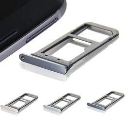 Argentina Reemplazo de la ranura de la bandeja de la tarjeta SIM + Micro SD para Samsung Galaxy S7 G930 S7 Edge G935 Suministro