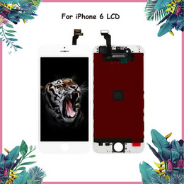 Wholesale iphone digitizer pcs - 5 PCS LCD Display For iPhone 6 Grade A +++ White Black With 4.7 inch Touch Screen Digitizer Assembly & Free DHL Shipping