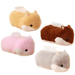 Wholesale Staff Animal - 1pc 25cm Cute Hamster Plush Tissue Box Soft Staffed Animal Hamster Plush Tissue Cover Creative Home Decoration Lovely Toys