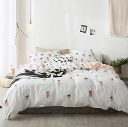 Wholesale Cotton Duvet Covers Single - Cute strawberry bedding set cotton adult teen,twin full queen king single double home textile bed sheet pillow case duvet cover