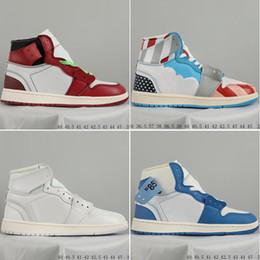 Nuevo OG Top 1 Hombres Negro Azul 1 s Zapatillas de deporte de alta calidad NUC Parra Zapatillas de deporte para hombre zapatillas blancas Zapatos de baloncesto desde fabricantes