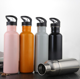 Wholesale Wholesale Drinking Cups Straws - 2018 Stainless steel cup Drinking cup Stainless steel vacuum flask 750ML large straw stainless steel bottle