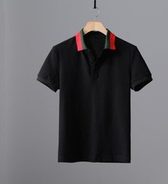 Wholesale Plus Size Men Shirts - Luxury Men T Shirt Brand Designer Plus Size Slim Fit Embroidery T Shirts Homme Short Sleeve Mens Brand Clothing Camisa Masculina Hot