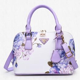 Bolsas azuis brancas on-line-Novo nacional vento azul e branco bolsas de porcelana bolsa de ombro Messenger bag retro moda impressão shell pacote