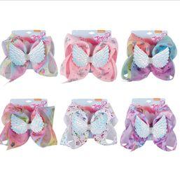 Wholesale diamond hairpins - 8 inch unicorn hairpin Diamond wing UNICORN girls X'mas halloween hair accessories unicorn barrettes hair accessories KKA5670
