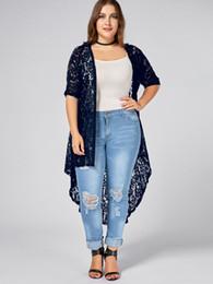 c2033a6a816 Gamiss Plus Size Lace Crochet Long Open Front Cardigan Summer Autumn  Jackets Girl Women S Lace Sweet Crochet Knit Outerwear S18101205