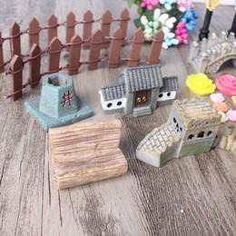 figurines bonsai Sconti 49pcs decorazione set Coniglio fiore resina artigianato carino miniatura simulazione giardino bonsai divertimento decor mini bambola realistica figurine 21hp zy