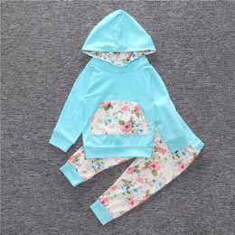 MORENNA 2018 Nueva moda Primavera y otoño gris Niños Ropa Pantalones cortos con capucha Bebes recién nacidos 2 uds. set de bebe para unisex 0-18 m desde fabricantes