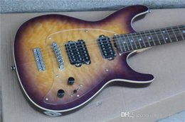 Wholesale Electric Guitar Musicman - Hot Sale MusicMan Steve Morse Y2D Purple Sunset Violet Electric Guitar Figured Maple top