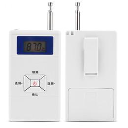 Transmissor sem fio ao ar livre on-line-Portátil Mini Transmissor FM Sem Fio 70 MHz ~ 108 MHz de Áudio Estéreo FM Conversor Adaptador Pessoal Rádio FM Receptor Estação