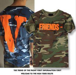 Wholesale Mens Camouflage Shirt Xl - Designer T Shirt for Men Fashion T Shirt Summer Mens Shirts Casual Camouflage Crew Neck Cotton Blend Letter Print Outdoor Streetwear Hip Hop
