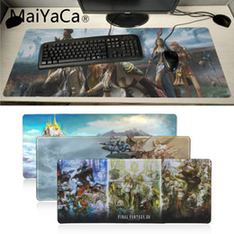 juegos de computadora geniales Rebajas MaiYaCa Cool Nuevo juego final de fantasía Único Desktop Pad Gaming Mousepad jugador de la computadora Mesa de teclado Mat gamer mousepad