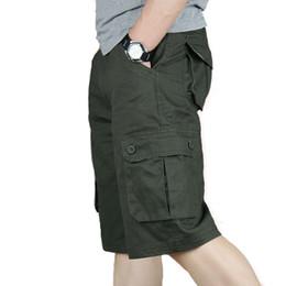 pantalones cortos de hombres gordos Rebajas Pantalones cortos de carga de los hombres de gran tamaño Monos tácticos del ejército de gran tamaño Pantalones cortos de papá Pantalones sueltos Fat Casual Beach