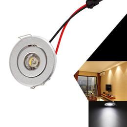 Wholesale Cabinet Led Light 1w - LED Under Cabinet Lighting, 1W 6000K-6500K Cool White, LED Recessed Small Ceiling Downlight LED Cabinet Lights AC 85V-265V
