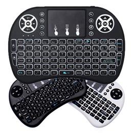 Rii i8 Mini 2.4GHz Wireless QWERTY Tastiera Air Mouse Telecomando Touchpad per Pad Scatola TV Android Xbox 360 PS3 HTPC IPTV da htpc aria remota fornitori