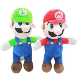 baby mario bros toys Promo Codes - Super Mario Bros plush toys cartoon Mario Brothers Stuffed Animals 25cm 10 inch Dolls for baby Christmas gifts C5365