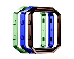 2019 fitbit cobre Fitbit blaze watchcase quadro caso titular caixa de listagem capa de metal banda para fitbit blaze smart watch cor mix