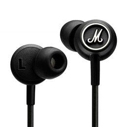 écouteurs écouteurs Promotion Marshall MODE Casque Dans L'oreille Casque Noir Écouteurs Avec Micro HiFi Oreille Bourgeons Casque Universel Pour Téléphones Mobiles