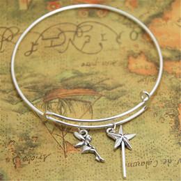 Pulsera de campana online-12 unids / lote bell bracelet Charms brazaletes campana ajustable Joyería Fantasía Encanto Pixie polvo