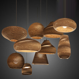 Старинные чердак бумаги Сота подвесные светильники абажур бумажные фонари для бара ресторан украшения повесить лампы droplight от