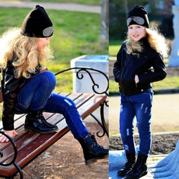 9df42051c2f Broken Hole Girls Jeans 2018 Spring Fashion Ripped Kids Pants 2-8 Years Old  Casual Pencil Baby Boy Children Trousers 5795X