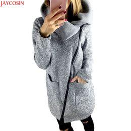 Mulheres Fleece Jacket Slant Zipper Colarinho Casaco Senhora Mulher Outono Inverno Roupas Quentes de